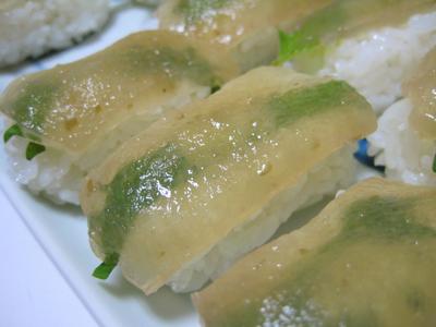 りんごこんにゃくのお寿司